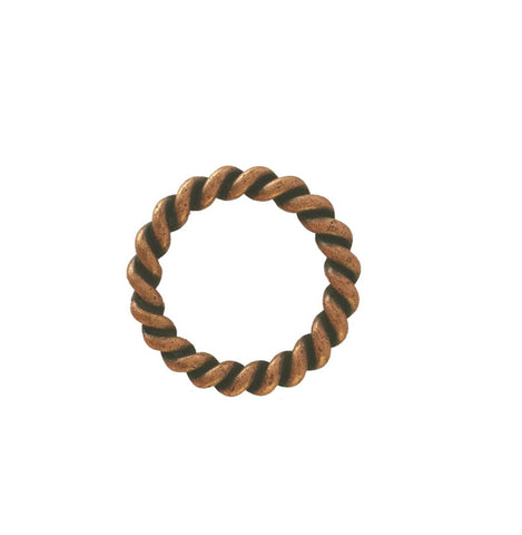 "852-L28 1"" Antique Copper Rope Style O Ring"