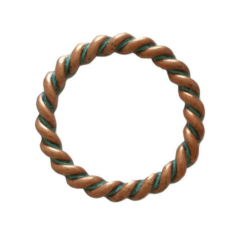 "852-M40 1 1/2"" Copper Patina Rope Style O Ring"