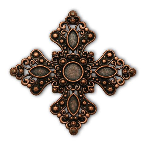 Royal Cross Screw Back Concho, Conchos - Behind The Wire Shop