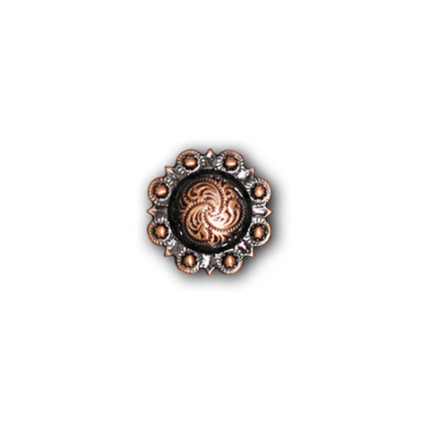 "2303SB-C28 1/2"" Antique Copper Decorative Mini Traditional Berry Conchos, Conchos - Behind The Wire Shop"