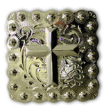 Beaded Cross Square Western Conchos, Wholesale - Behind The Wire Shop