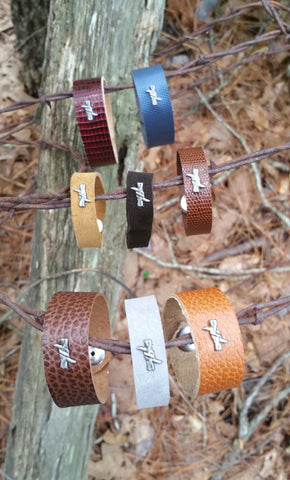 Behind The Wire Shop Barb Wire Leather Bracelets & Rings - Benefiting Hospitality House, Bracelets & Rings - Behind The Wire Shop