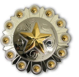 Traditional Berry Star Western Conchos, Wholesale - Behind The Wire Shop