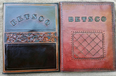 Personalized Custom Leather Portfolios / Padfolio for Notepad, Business Cards & More, Portfolios - Behind The Wire Shop