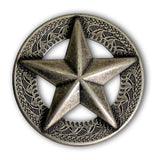 Capitol of Texas Ranger Star  Screw Back Concho