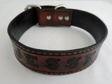The Celtic Duke- Brown & Black Personalized Leather Dog Collar, Dog Collars - Behind The Wire Shop