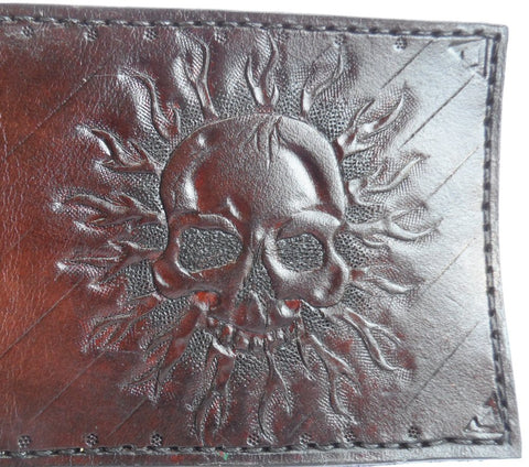 Skull Bifold Wallet - Custom Made- Upload your own skull photo to create your own skull wallet.