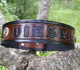The Single Classic - Personalized Leather Dog Collars with Texas Ranger Star Conchos, Dog Collars - Behind The Wire Shop