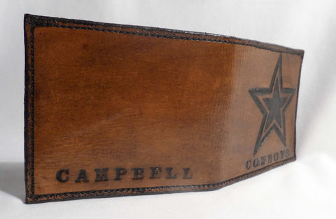 Custom Made Dallas Cowboys Leather Wallet