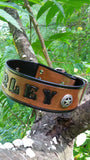 Personalized Classic Texas Ranger Star Leather Dog Collar