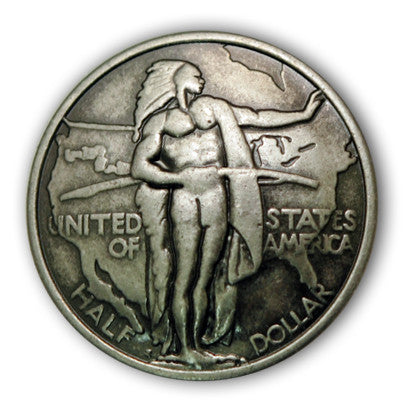 Half Dollar Oregon Trail Coin Concho, Wholesale - Behind The Wire Shop