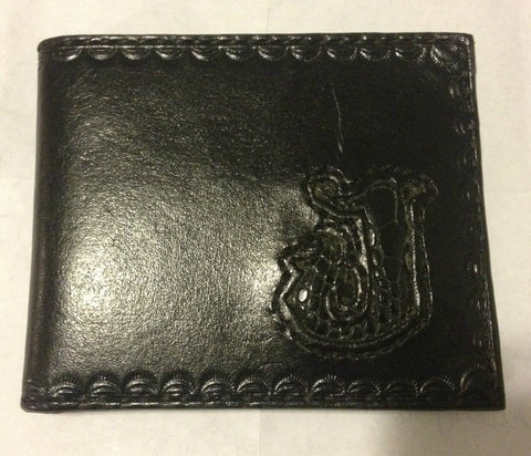 Custom Made Black Wallet with Snake Skin Initial, Special Projects - Behind The Wire Shop