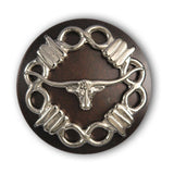 Longhorn Steer with Barb Wire Screw Back Concho, Wholesale - Behind The Wire Shop
