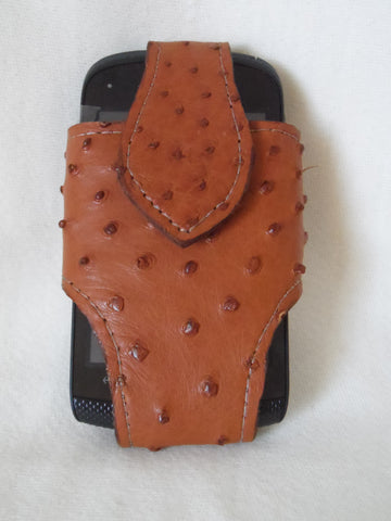Custom Made Ostrich Skin Cell Phone Case