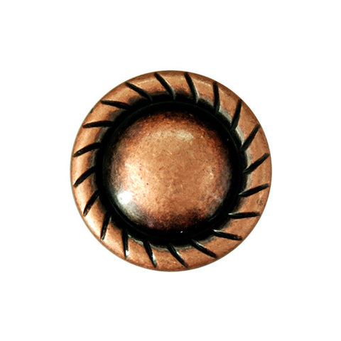"2503SB-L28 1"" Antique Copper Plain Rope Edge Concho, Conchos - Behind The Wire Shop"