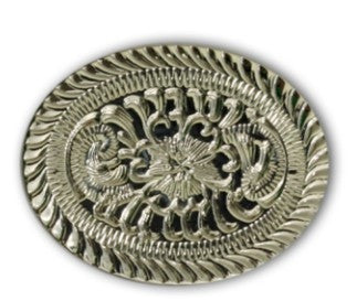 Rope Edge Flower Oval Screw Back Concho