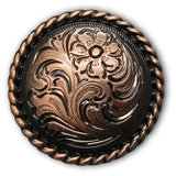 Traditional Rope Edge Screw Back Conchos
