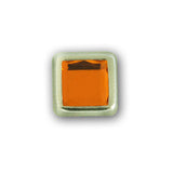 "11061-I124 3/8"" Orange Acrylic 2 Prong Rhinestones with Square Nickel Setting, Rhinestones - Behind The Wire Shop"