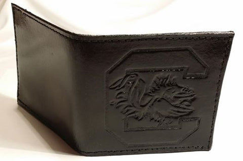 University Of South Carolina Gamecock Leather Wallet -Custom Made