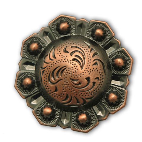 Traditional Octagon Berry Western Conchos, Wholesale - Behind The Wire Shop