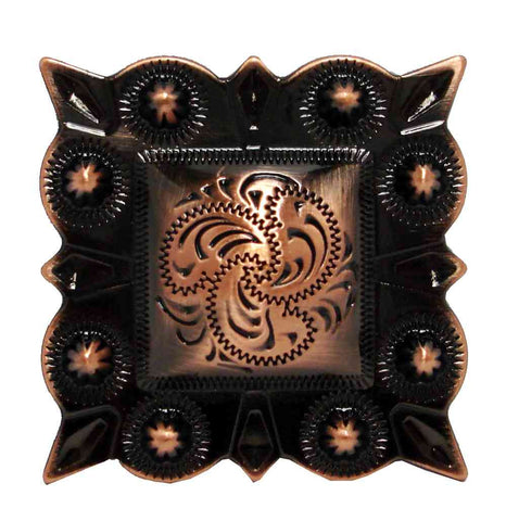 Traditional  Square Berry Western Conchos