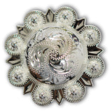 Traditional Round Berry Western Conchos, Wholesale - Behind The Wire Shop
