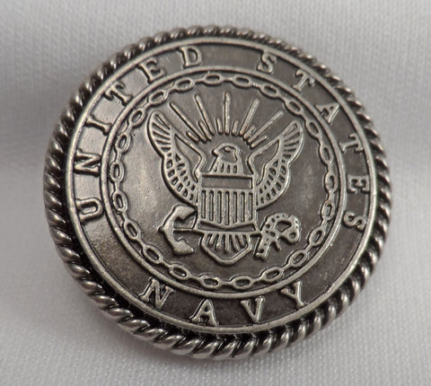 "5450-SN 1""  US Navy Seal Emblem Antique Nickel Decorative Military Buttons, snaps - Behind The Wire Shop"