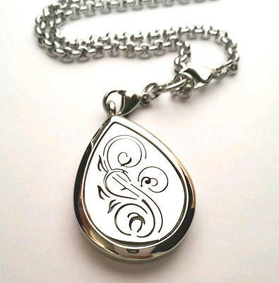 Oil Tear Drop Swirl Diffusing Pendant