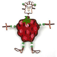 Dancing Girl Berry Pin Handmade and Fair Trade