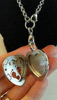 Heart LOVE Pregnancy BABY Feet Essential Oil Diffusing Locket