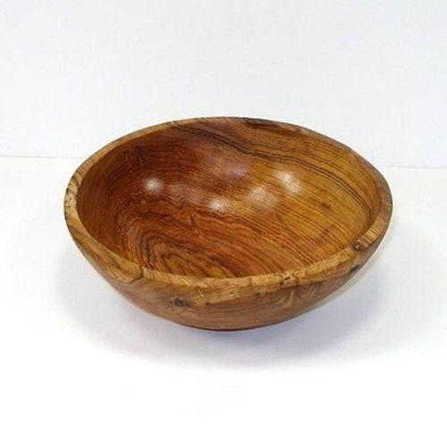 9-Inch Handcarved Olive Wood Bowl Handmade and Fair Trade