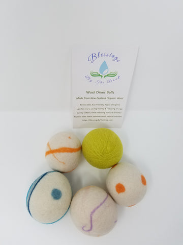 Colorful Needle Felted Wool Dryer Balls