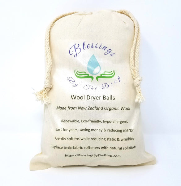XXL Organic Wool Dryer Balls 6 Pack