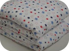 Organic Cotton Crib Fitted Sheet Stars Print