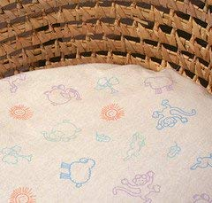 Organic Cotton Crib Fitted Sheet Pastel Animal Print