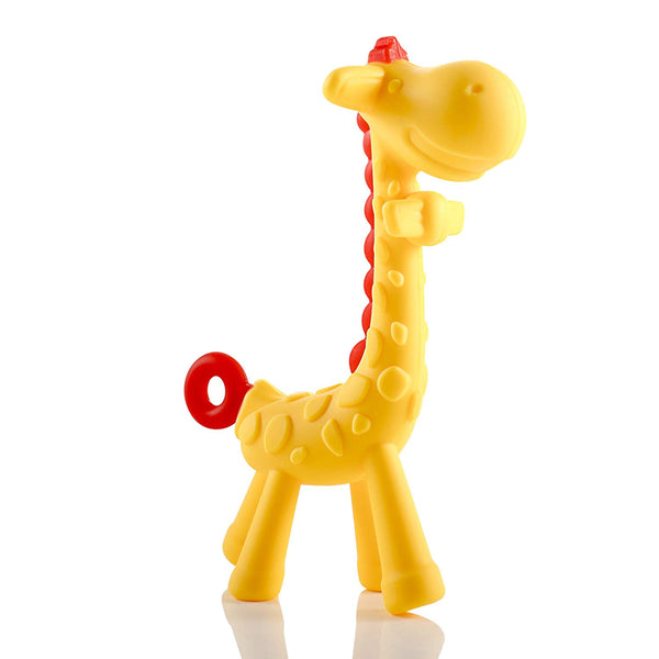 Giraffe Baby Teether Natural & Organic BPA-Free Silicone for Infant Teething Relief | Freezable and Dishwasher-Safe | Cute Chew Toys for Boys, Girls, Babies, Toddlers, Newborn