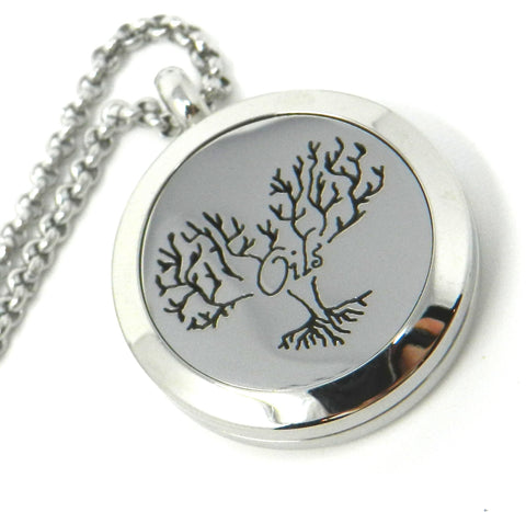 Oils Tree of Life Heart Essential Oil Diffusing Locket