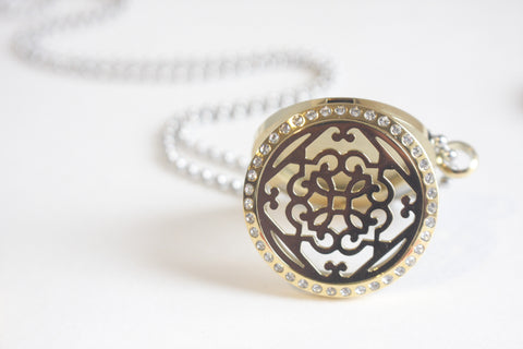 Bling Filigree Gold Essential Oil Diffusing Locket