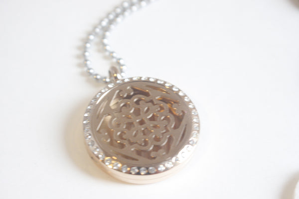 Bling Rose Gold Essential Oil Diffusing Locket