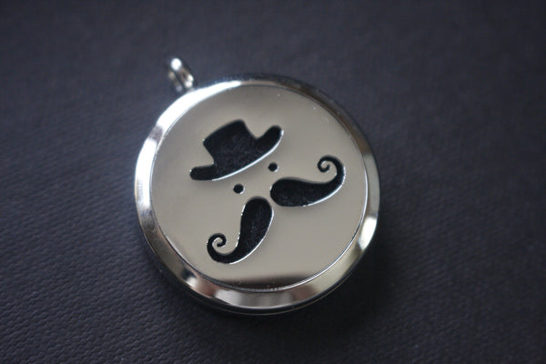 Mustache Man Stainless Steel Aromatherapy Diffuser