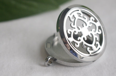 Heart Swirls Stainless Locket Essential Oil Diffusing Locket