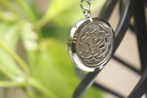 Open Rose Aromatherapy Locket