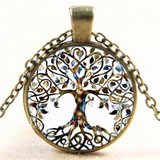 Vintage Inspired Tree of Life Bronze Pendant