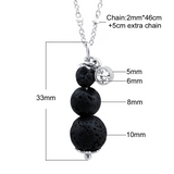 3 Tier Lava Aromatherapy Necklace