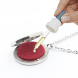 Aromatherapy Retractable Lanyard ID Badge Holder