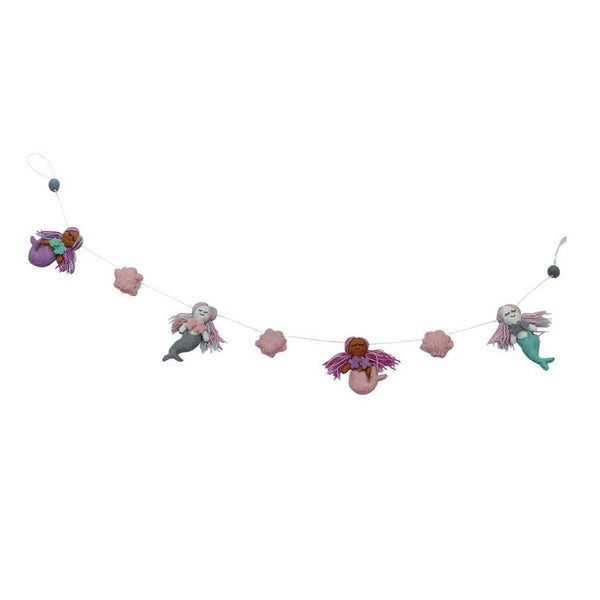 Mermaid Felt Garland - Global Groove