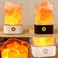 Led Color Changing Purifying Himalayan Salt Lamp Black /White Portable Lamp
