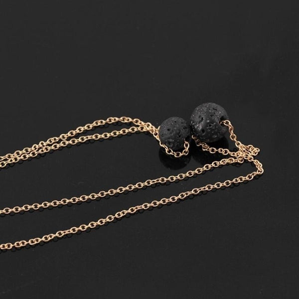 Lave 2 Tier Rose Gold Necklace