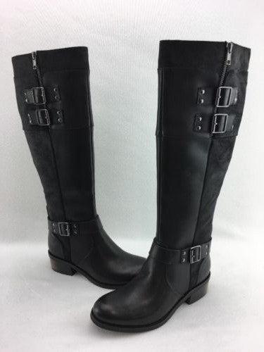 e0127ad7c07 Naughty Monkey Flair Wear Knee High Ladies Boots Black Leather Size 6 RH6998