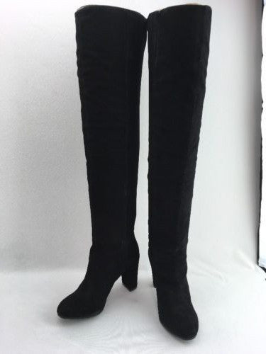 aa5d5e96ed2 Nine West Snowfall Black Suede Over The Knee Boot